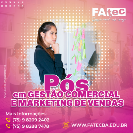 Gestão Comercial e Marketing de Vendas
