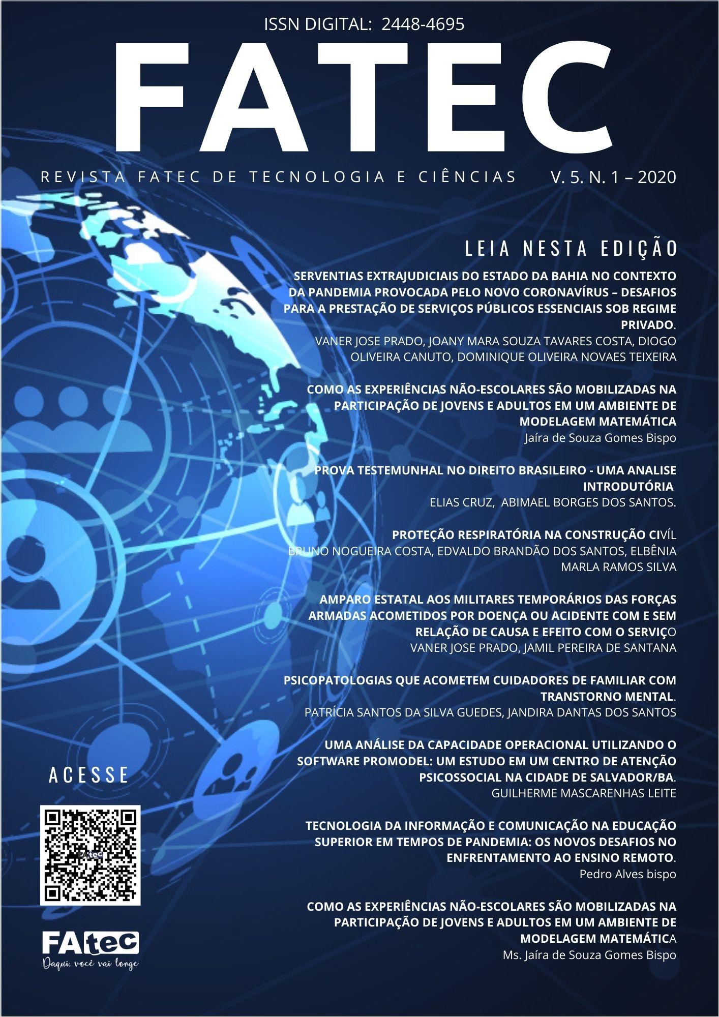 Visualizar v. 5 n. 1 (2020): Revista Fatec de Tecnologia e Ciências